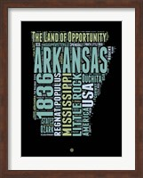 Arkansas Word Cloud 1 Fine-Art Print
