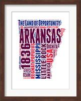 Arkansas Word Cloud Map Fine-Art Print