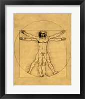 Proportions of the Human Figure - Vitruvian Man Fine-Art Print