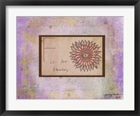 F is For Flower Fine-Art Print