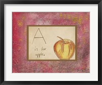 A is For Apple Fine-Art Print