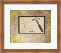 H is For Hammer Fine-Art Print