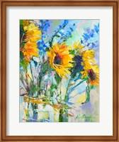 Sunflowers In Glass Bottles Fine-Art Print
