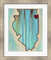 IL Map Fine-Art Print