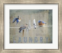 Laundry Day Bluebirds Fine-Art Print