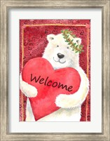 Polar Bear Heart Welcome Fine-Art Print