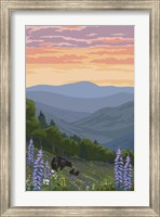 Black Bear with Cubs 1 Fine-Art Print
