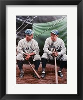 Babe Ruth and Lou Gehrig (seated) Fine-Art Print