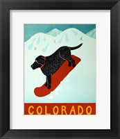 Colorado Snowboard Black Fine-Art Print