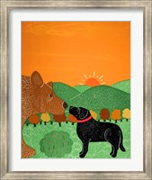 I Meet A Bear Black Autumn Fine-Art Print