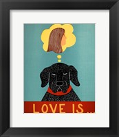 Love Is Dog Girl Black Fine-Art Print