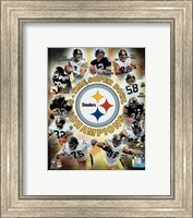 Pittsburgh Steelers 6-Time Super Bowl Champions Composite Fine-Art Print