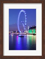 Millennium Wheel, London County Hall, Thames River, London, England Fine-Art Print