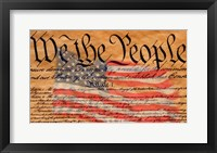 Constitution and U.S. Flag Fine-Art Print