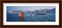 Waterfront Buildings, Kowloon, Hong Kong, China Fine-Art Print