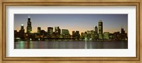 Chicago Skyline at Dusk, IL Fine-Art Print