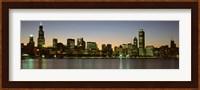 Chicago Skyline at Dusk, IL Fine-Art Print