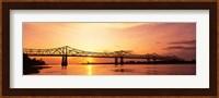 Bridge At Sunset, Mississippi Fine-Art Print