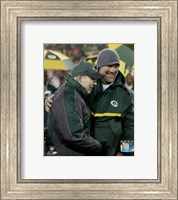 Brett Favre & Bart Starr at Favre's number retirement ceremony at Lambeau Field- November 26, 2015 Fine-Art Print