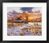 Snow Barn Fine-Art Print