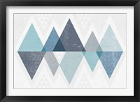 Mod Triangles II Blue Fine-Art Print
