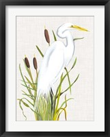 Waterbirds & Cattails III Fine-Art Print