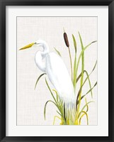 Waterbirds & Cattails IV Fine-Art Print