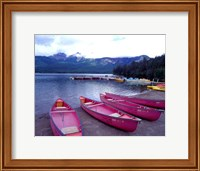 Four Pink Boats, Canadian Rockies 06 Fine-Art Print