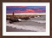 Lighthouse at Sunset, Michigan 09 Fine-Art Print