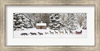 Sleigh in the Snow, Farmington Hills, Michigan 09 Fine-Art Print