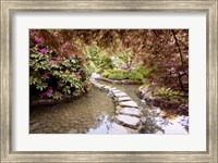 Stepping Stones at Butchart Gardens #2, Victoria, B.C. 09 Fine-Art Print