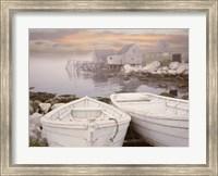Two Boats at Sunrise, Nova Scotia 11 Fine-Art Print