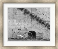 Bicycle & Cracked Wall, Einsiedeln, Switzerland 04 Fine-Art Print