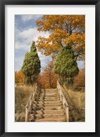 Wooden Steps In Autumn, Marquette, Michigan 12 Fine-Art Print