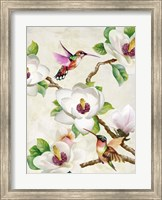 Magnolia and Humming Birds Fine-Art Print