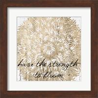 Metallic Floral Quote II Fine-Art Print