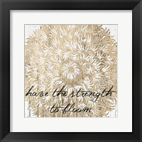 Metallic Floral Quote II Fine-Art Print