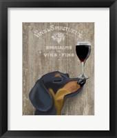 Dog Au Vin Dachshund Fine-Art Print