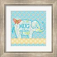 Blue Elephant I - Hug Often Fine-Art Print
