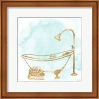 Le Tub on Teal II Fine-Art Print