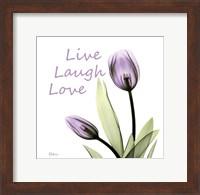 Purple Tulips Live Laugh Love Fine-Art Print