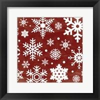 Red Snow Flakes Fine-Art Print
