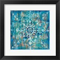 Mandala in Blue I Fine-Art Print