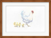 Hen and Chickens Fine-Art Print