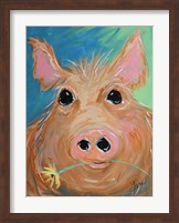 Pig with Yellow Flower Fine-Art Print