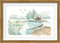 Lakehouse II on White Fine-Art Print