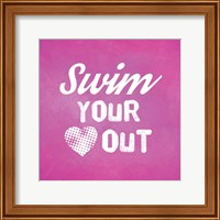 Swim Your Heart Out - Pink Vintage Fine-Art Print