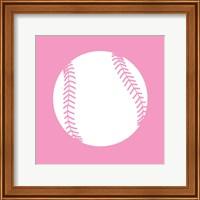 White Softball on Baby Pink Fine-Art Print