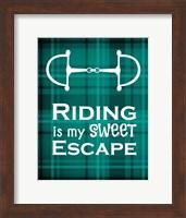 Riding is My Sweet Escape - Green Fine-Art Print
