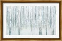 Birches in Winter Blue Gray Fine-Art Print